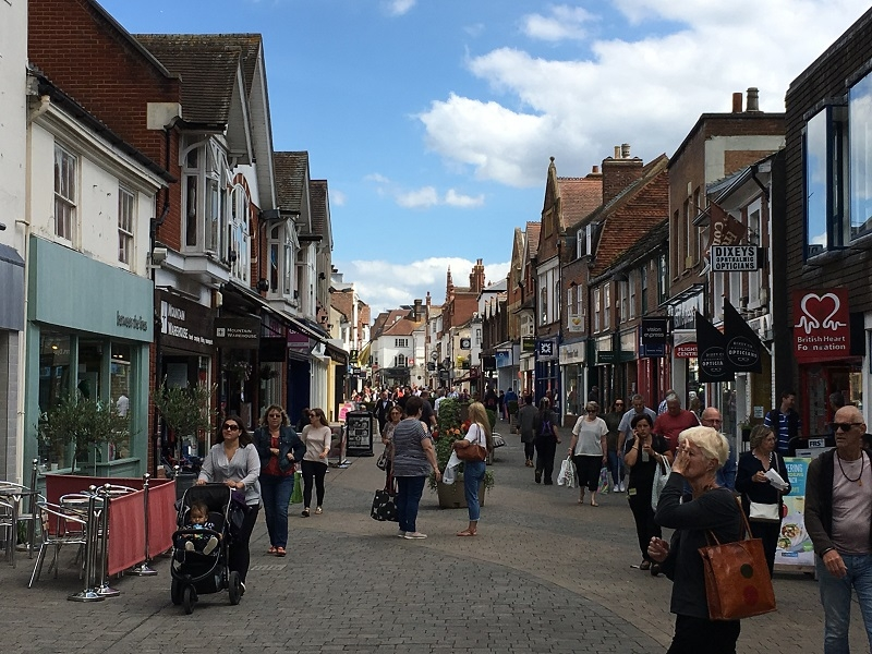 West Street Horsham - a hive of activity